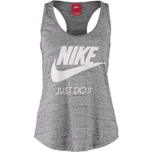 Nike Sportswear GYM VINTAGE Top carbon heather
