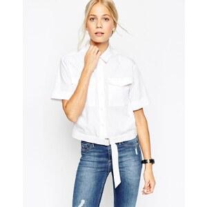 ASOS - Hemd mit D-Ring - Weiß