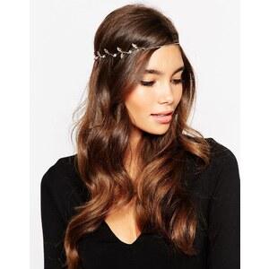 ASOS - Haarband mit Blatt- und Blumenverzierung - Gold