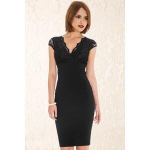 Vintage Chic 50s Isabelle Lace Pencil Dress in Black