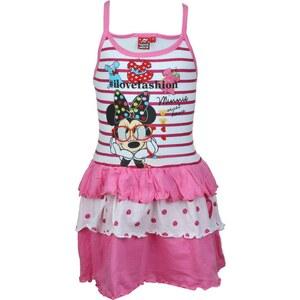 Disney Robe enfant Minnie Robe Fille Sans manches avec bretelles en coton