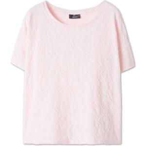 C&A T-Shirt mit Strukturmuster in Rosa