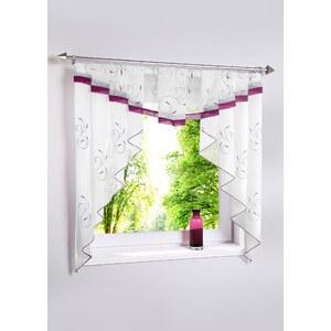 bpc living Kleinfenster Evita, Kräuselband in lila von bonprix