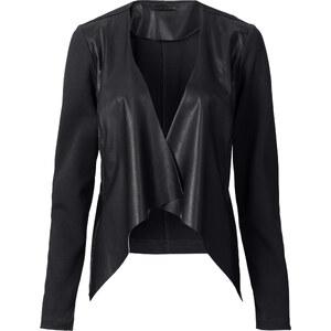 RAINBOW Lederimitat Blazer langarm in schwarz für Damen von bonprix