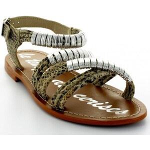 Le Temps des Cerises Sandales Nu-pieds Amanda Serpent Gris