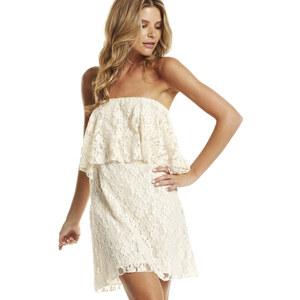 Lesara Bandeau-Kleid aus Spitze - Weiß - S