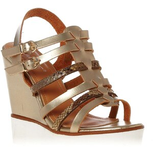 R and Be Wedges - goldfarben