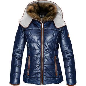 bpc bonprix collection Stepp-Jacke mit Kapuze langarm in blau für Damen von bonprix