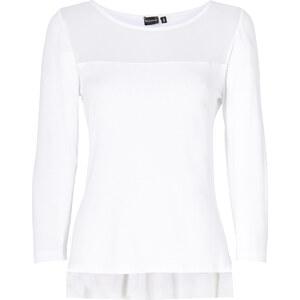 BODYFLIRT Shirt mit Mesh-Einsatz 3/4 Arm in weiß für Damen von bonprix
