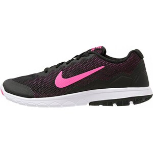 Nike Performance FLEX EXPERIENCE 4 Laufschuh Wettkampf black/pink foil/white