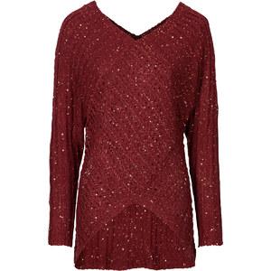 BODYFLIRT boutique Pullover langarm in rot für Damen von bonprix