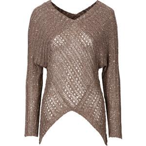 BODYFLIRT boutique Pullover langarm in beige für Damen von bonprix