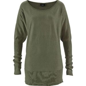 bpc bonprix collection Pull oversize vert manches longues femme - bonprix