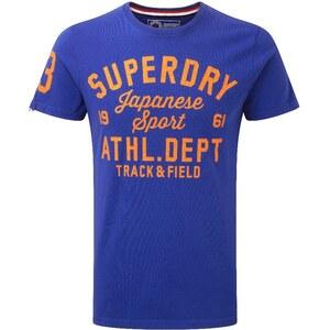 Superdry TRACKSTER TShirt print mazarine blue