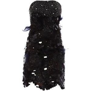 Faust Robe bustier avec étole assortie - et étole assortie noires