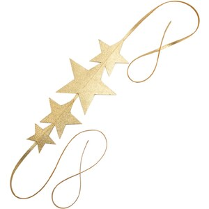 Naminoe Tirawa - Headband quatres étoiles en cuir - or