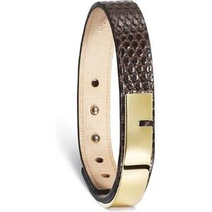 Ursul U Turn - Bracelet en cuir iguane - Chocolat