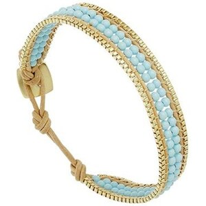 Nakamol Bracelet multi-rangs, chaîne - turquoise