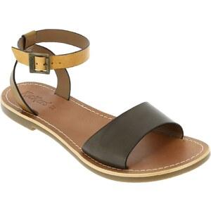 Kickers Sandales en cuir - marron