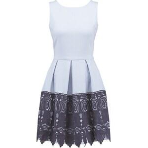 Closet Cocktailkleid / festliches Kleid pale blue/navy border