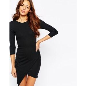Club L - Essentials - Figurbetontes Kleid mit asymmetrischem Saum