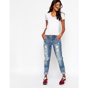 Ditto's - Charlie - Zerrissene Boyfriend-Jeans in hellblauer Waschung - Zerrissen, blau