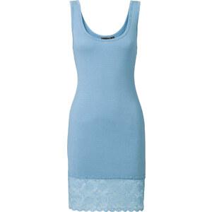 RAINBOW Top à dentelle bleu sans manches femme - bonprix
