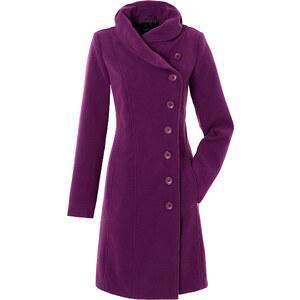 Manteau violet manches longues Près du corps femme - bonprix