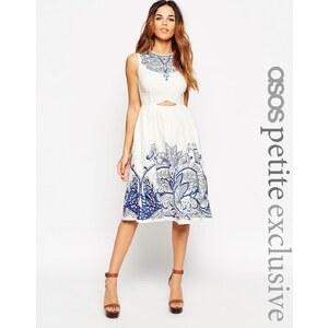 ASOS PETITE - Besticktes Minikleid mit Zierausschnitt