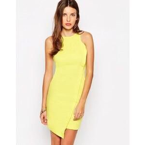 AX Paris - Sommerkleid in Wickeloptik - Gelb