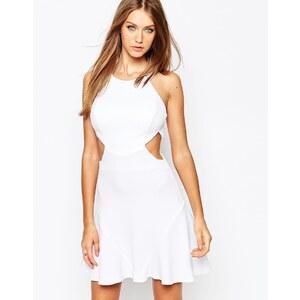Missguided - Ausgeschnittenes, gewebtes Swing-Kleid - Weiß