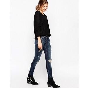 Noisy May - Enge Jeans mit Rissen - Dunkelblau
