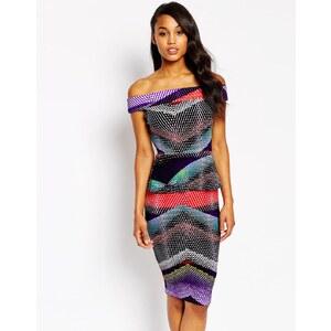 Vesper - Serena - Figurbetontes Kleid mit kontrastierendem Farbblockdesign - Mehrfarbig
