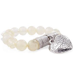 Esprit Bracelet élastique à breloque en cœur