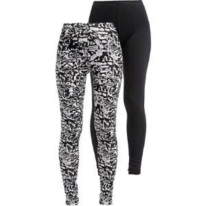 Even&Odd 2 PACK Leggings Hosen black/white