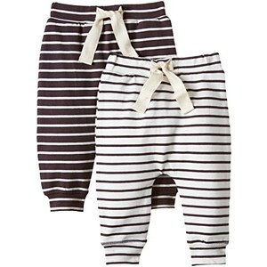 MINI MIZE by MAMLICIOUS Unisex Baby Hose Mmsand Pants Basic - F, 2er Pack, Gestreift