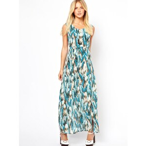 Jovonnista Feather Print Maxi Dress