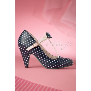 Dancing Days by Banned 50s Marilyn Pump in Navy