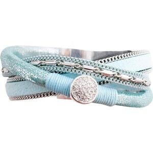 Marc Labat Bracelet multi-rangs - bleu clair
