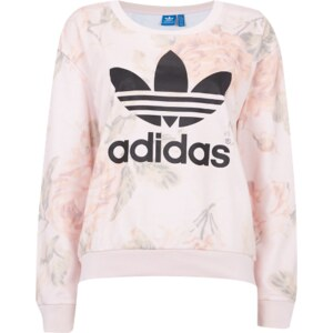 adidas Originals Oversize Sweatshirt mit Rosenmuster