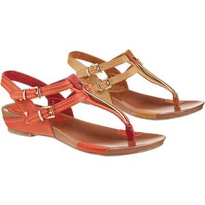 Lesara Nu-pieds en cuir véritable Betsy