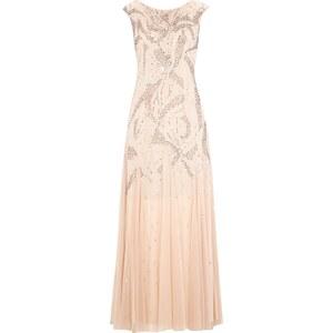 Adrianna Papell Abendkleid aus Mesh mit Muster aus Pailletten