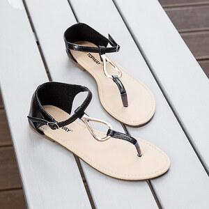 Lesara Zehentrenner-Sandale mit Schmuckelement - 40
