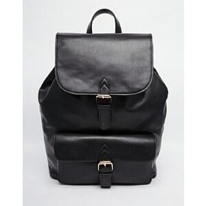 ASOS - Rucksack mit strukturierter Tasche - Schwarz