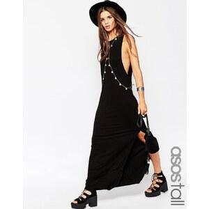 ASOS TALL - Maxi robe débardeur avec harnais de corps - Noir