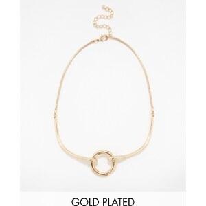 Designsix - Halskette mit goldenem Ring - Gold