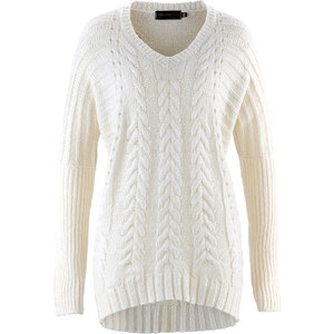bpc selection Pull blanc femme - bonprix