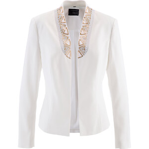 bpc selection premium Blazer Premium décoré de strass blanc manches longues femme - bonprix