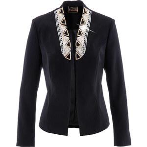 bpc selection premium Blazer Premium décoré de strass noir manches longues femme - bonprix