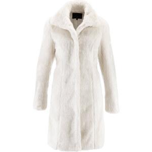 bpc selection Manteau en synthétique imitation fourrure blanc manches longues femme - bonprix